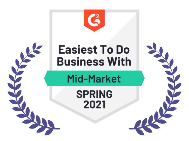 Easiest to do business with mid-market, Spring 2021